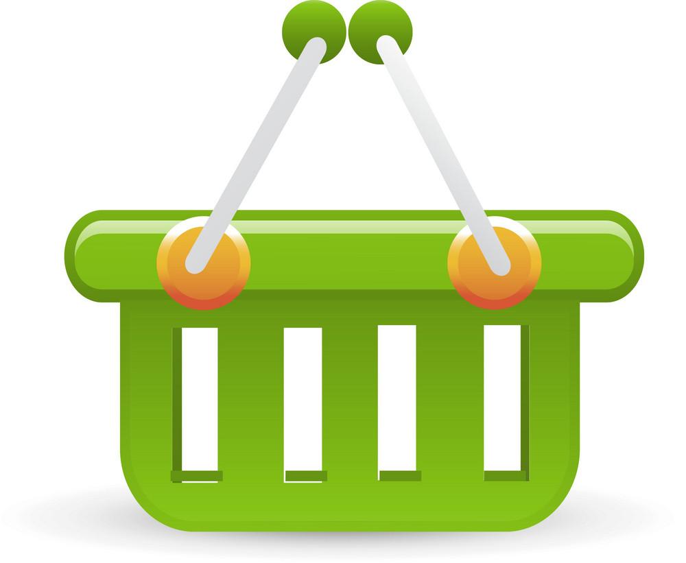 Basket Green Lite Ecommerce Icon