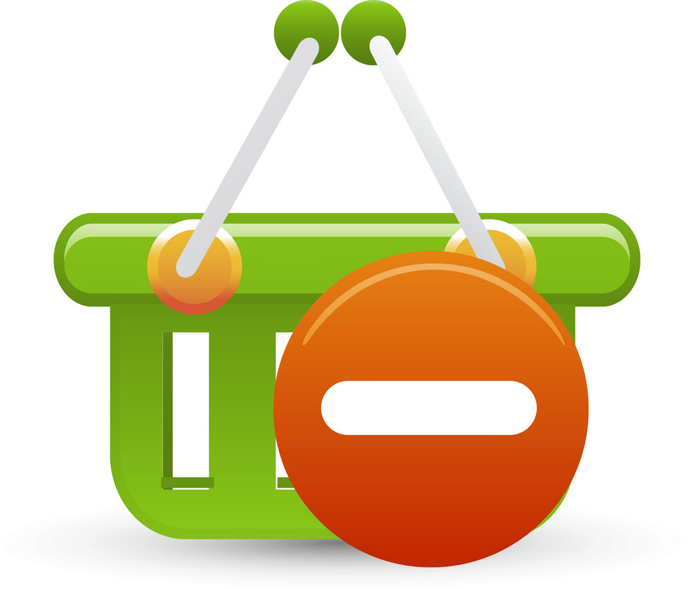 Basket Green Remove Lite Ecommerce Icon