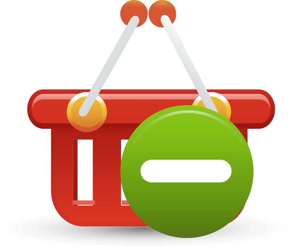 Basket Red Remove Lite Ecommerce Icon