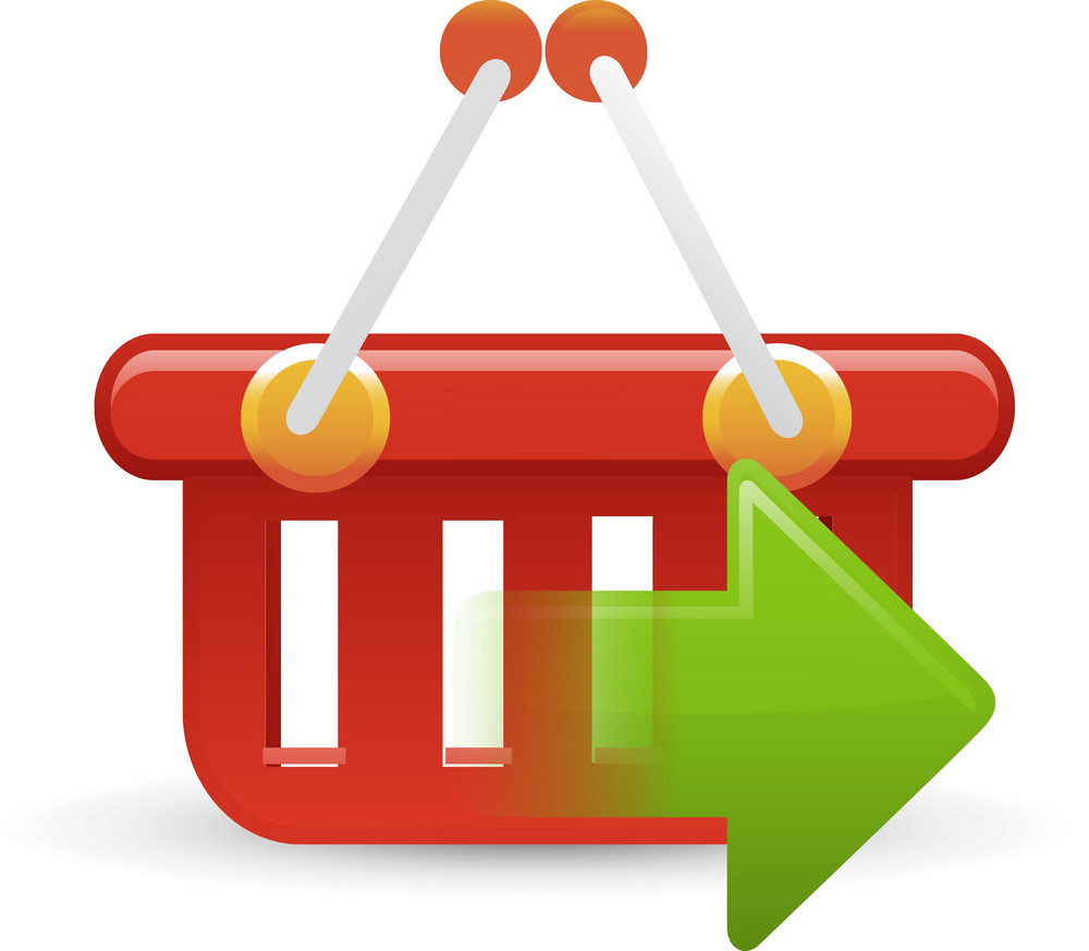 Basket Red Sending Lite Ecommerce Icon