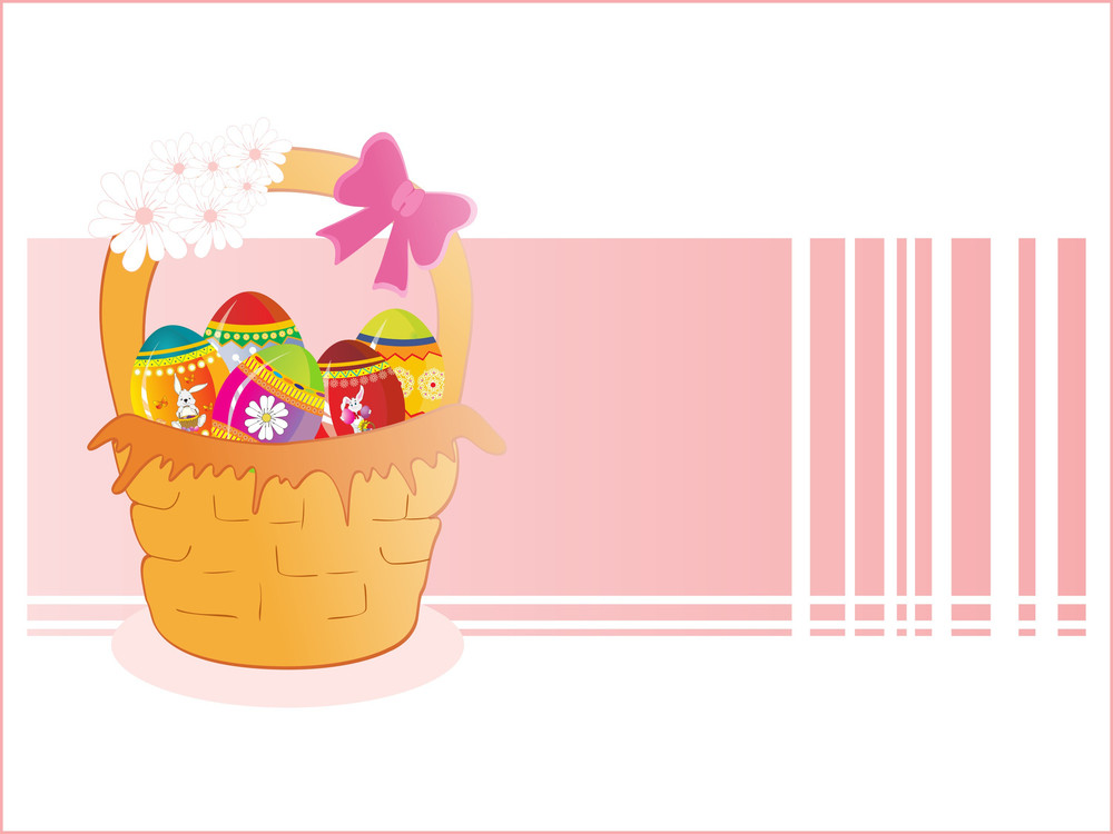 Basket With Decorated Egg