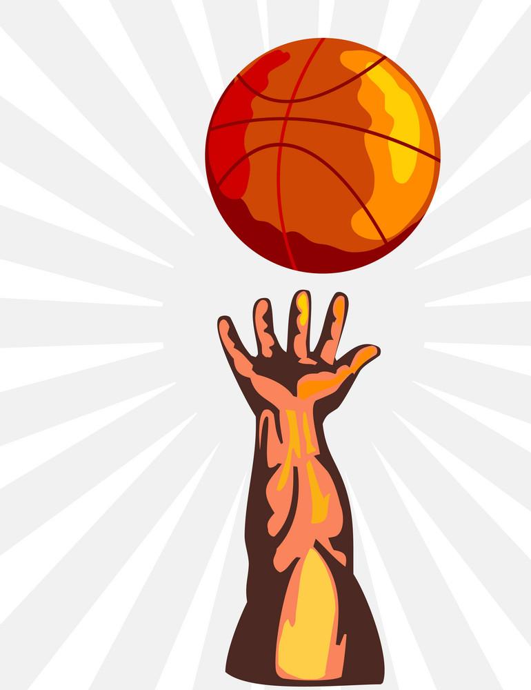 Basketball Hand Retro