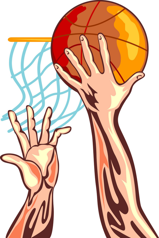 Basketball Hands Retro