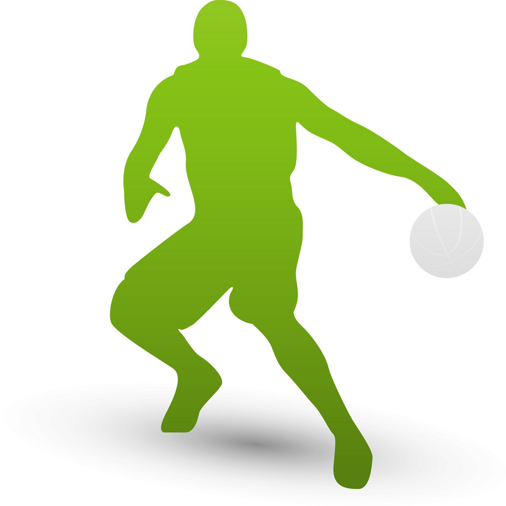 Basketball Player Silhouette Lite Sports Icon