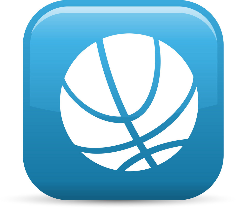 Basketball Sport Elements Glossy Icon