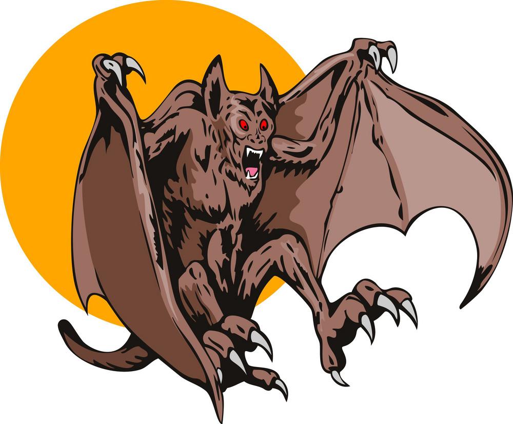 Bat Monster Retro