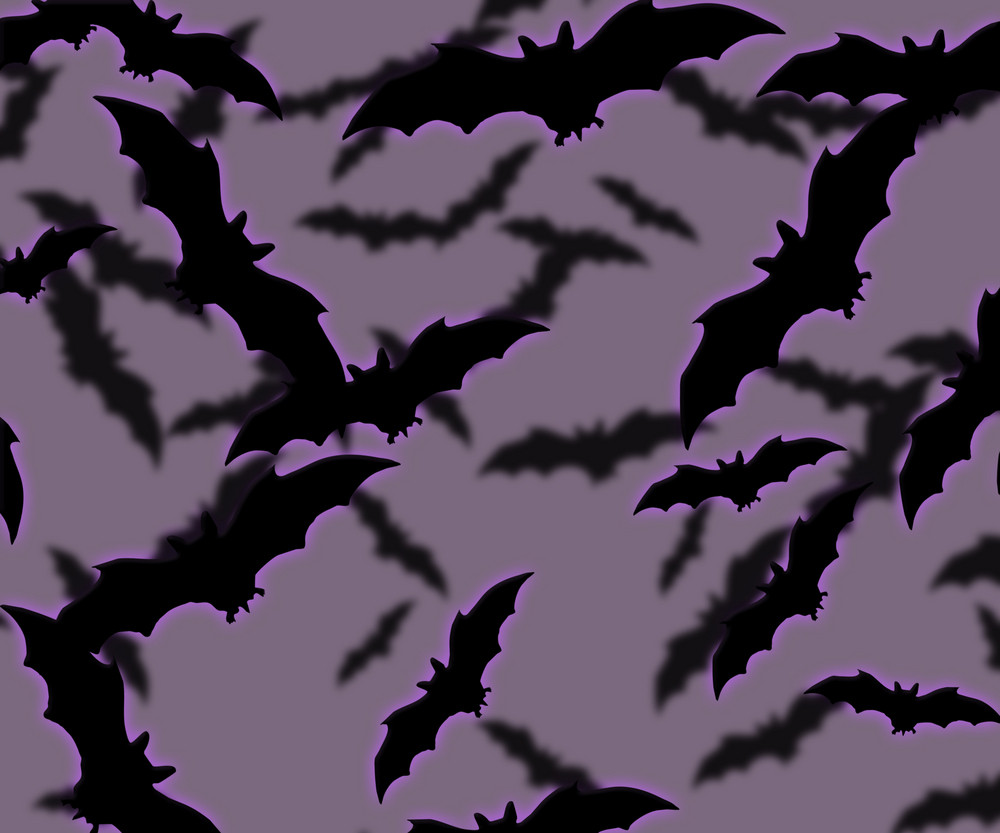 Bats Halloween Background