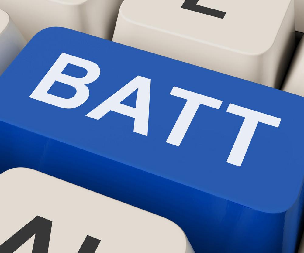 Batt Key Shows Battery Or Batteries Recharge