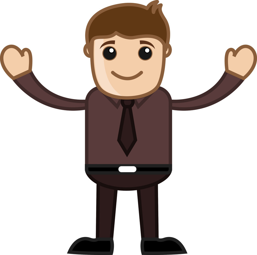 Be Part Of Us - Business Cartoon Character Vector