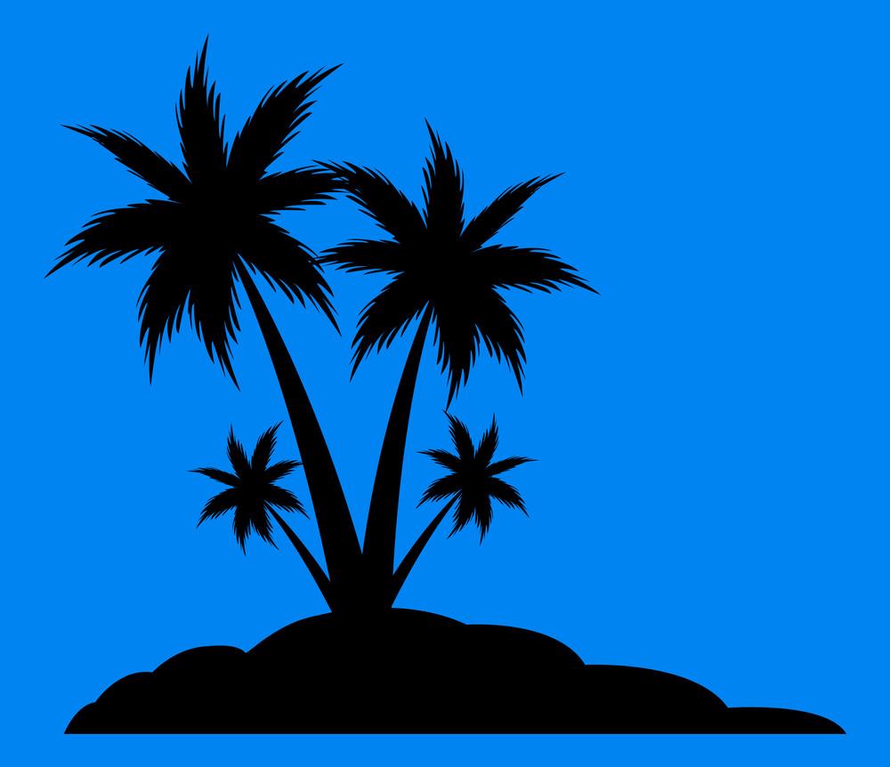 Beach Palm Trees Silhouette