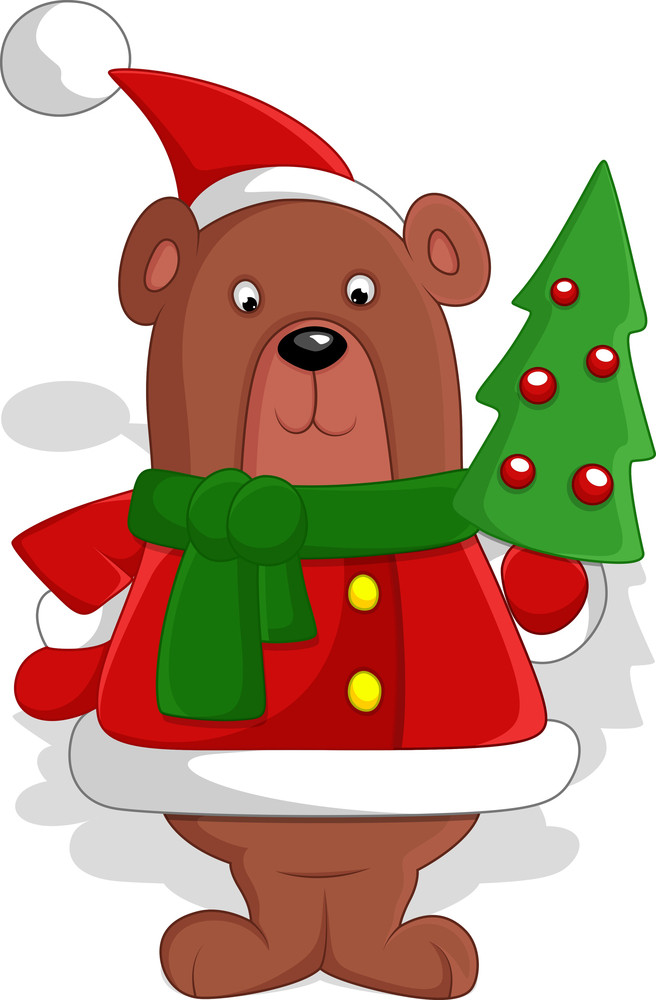 Bear - Christmas Vector Illustration