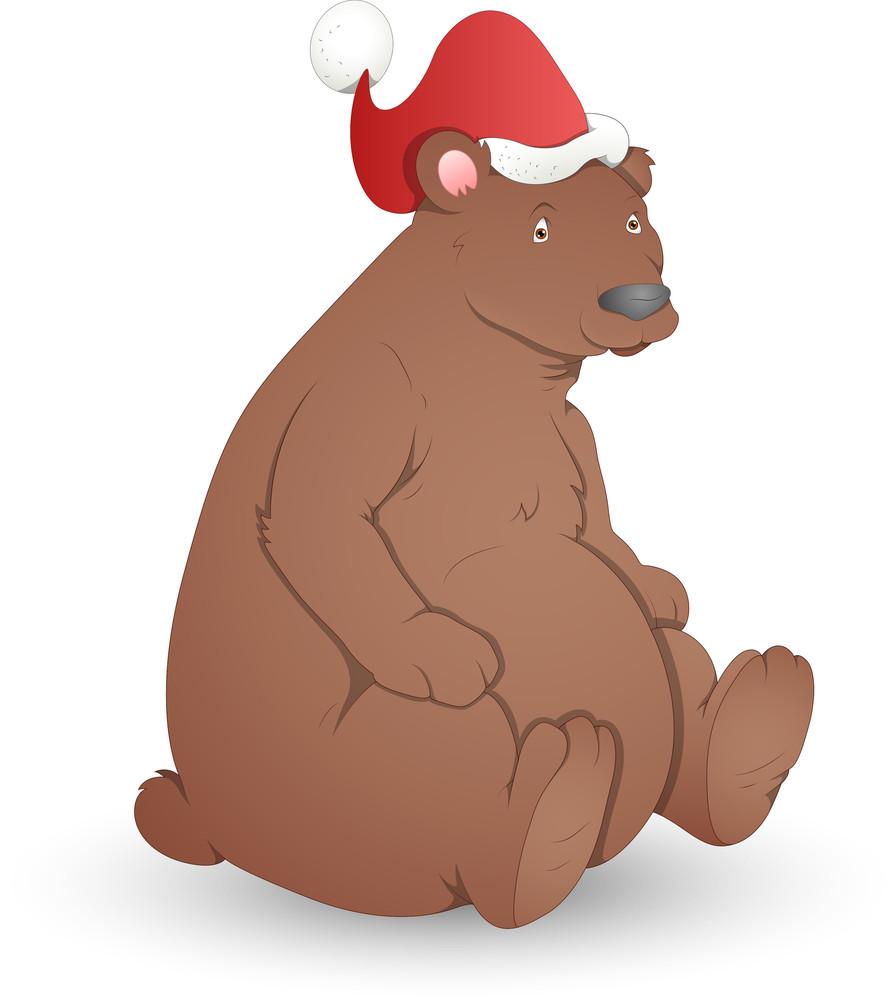 Bear - Christmas Vector Illustration