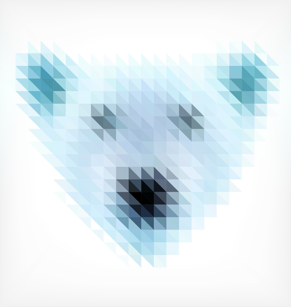 Bear Portrait Made Of Small Triangles