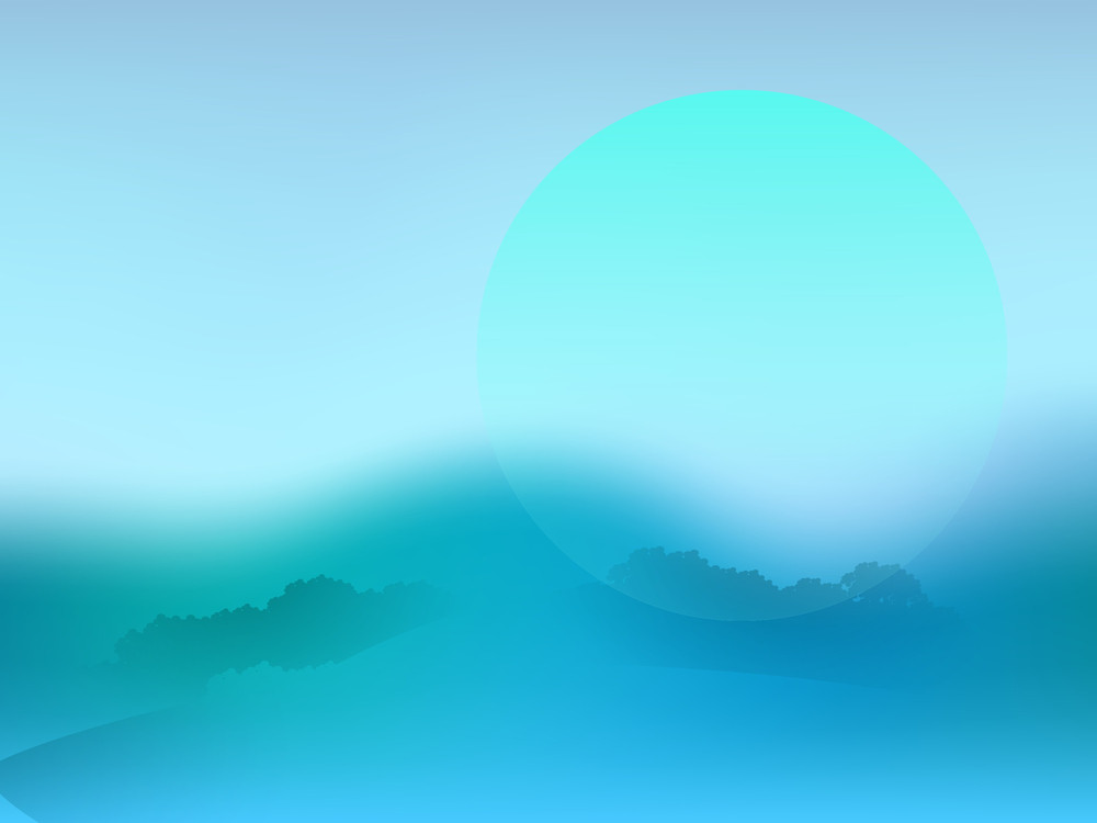 Beautiful Abstract Nature Background In Blue