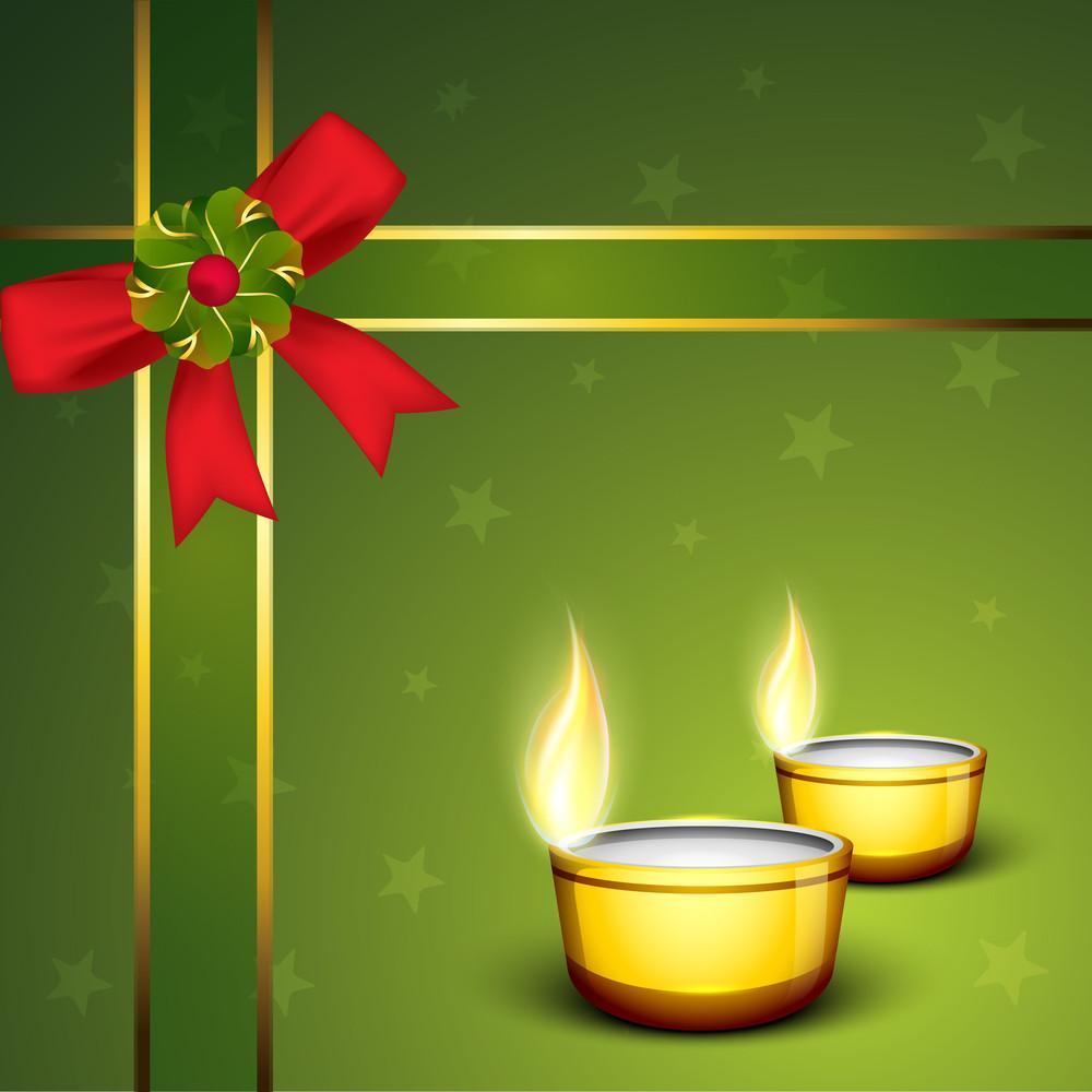Beautiful  Background For Hindu Community Festival Diwali Or Deepawali In India.