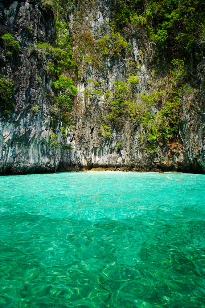 Beautiful blue sea from South Krabi Thailand, Asia