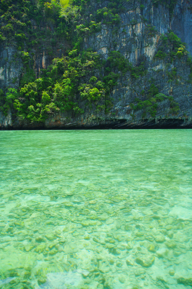 Beautiful blue sea from South Thailand, Asia