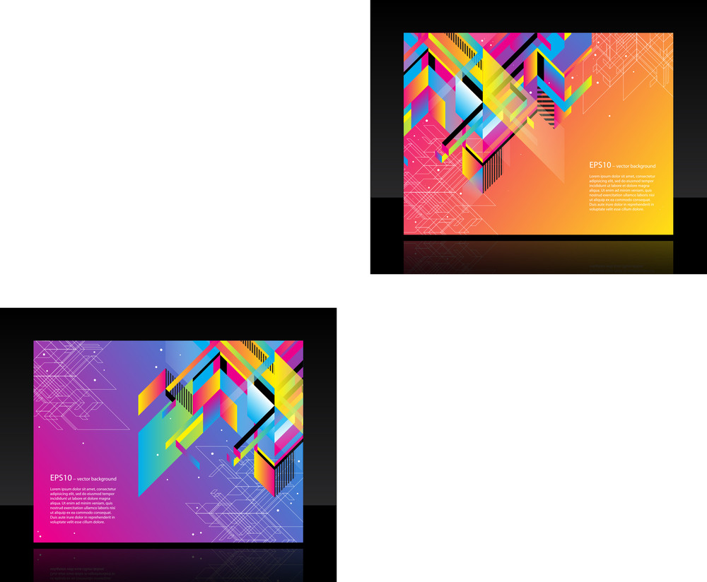 Beautiful Business Banner With Colorful Abstract Object