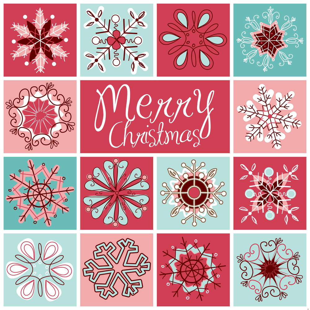 Beautiful Card With Snowflakes