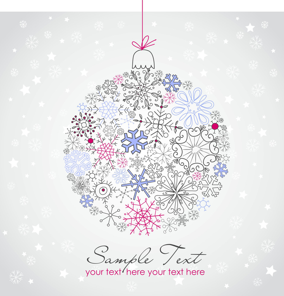 Beautiful Christmas Ball Illustration.