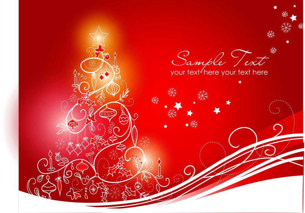Beautiful Christmas Background Images.Beautiful Christmas Tree On Red Background Royalty Free