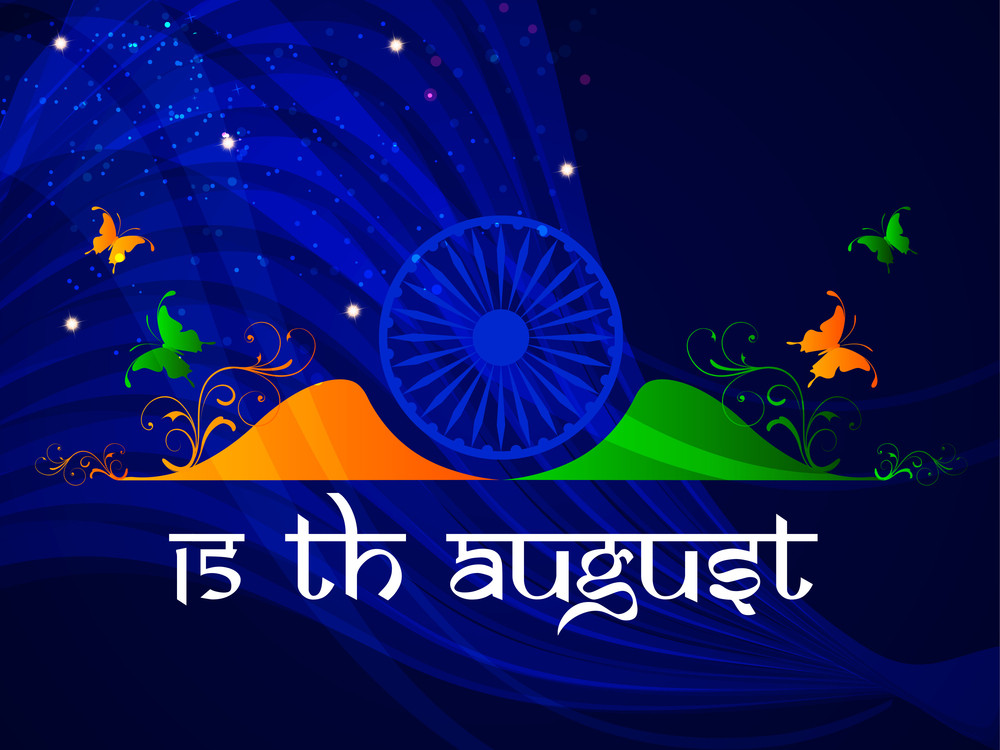 Beautiful Creative Background For Indian Independence Day Royalty