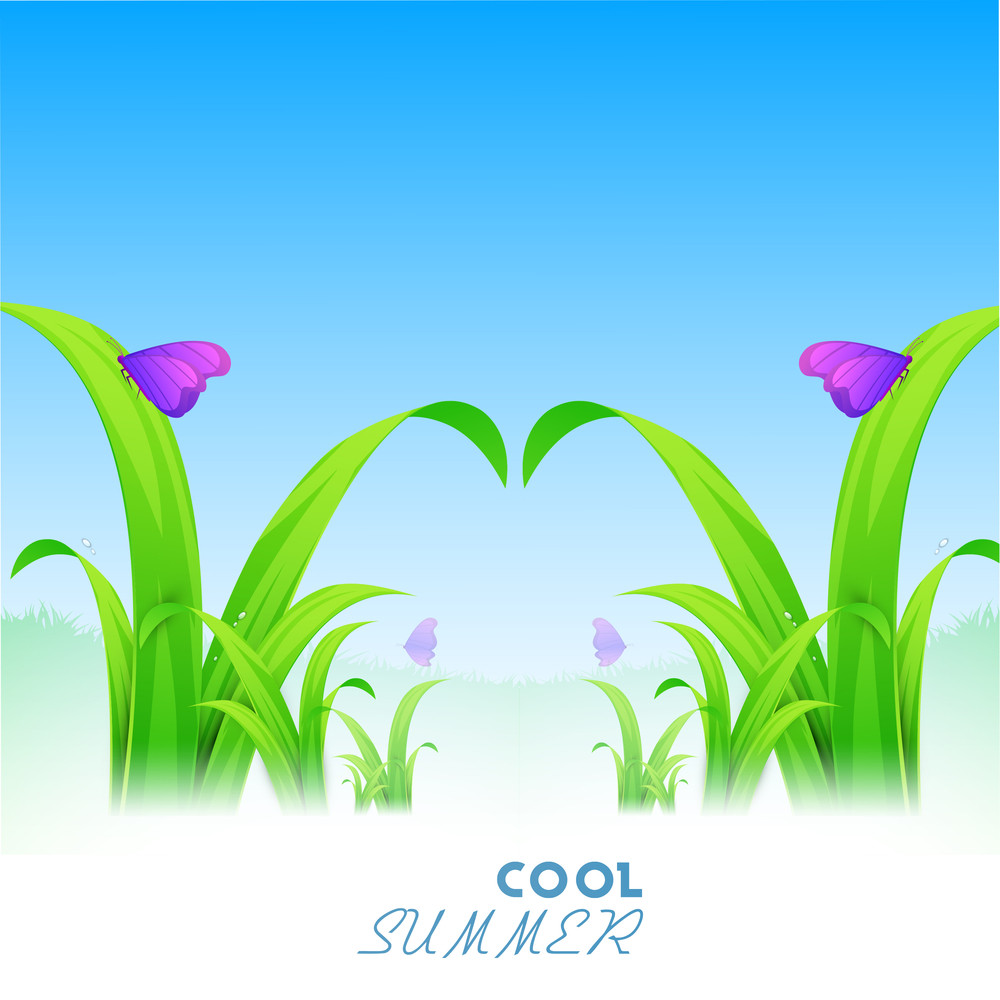 Beautiful Evening Background With Cool Summer Text