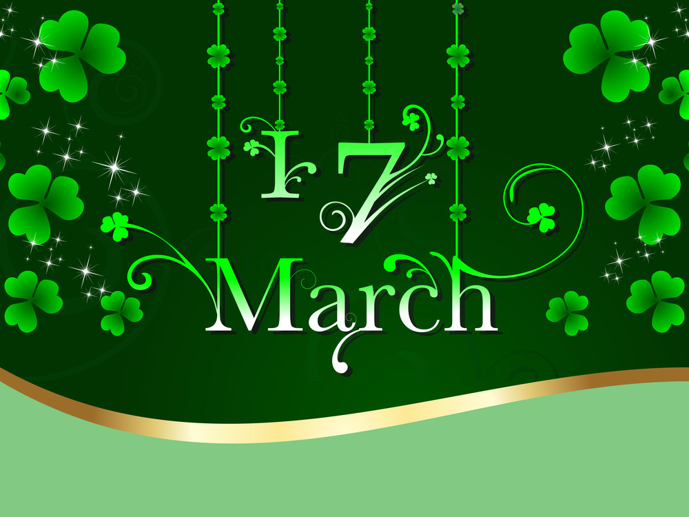 Beautiful Floral  Background For St. Patrick's Day.