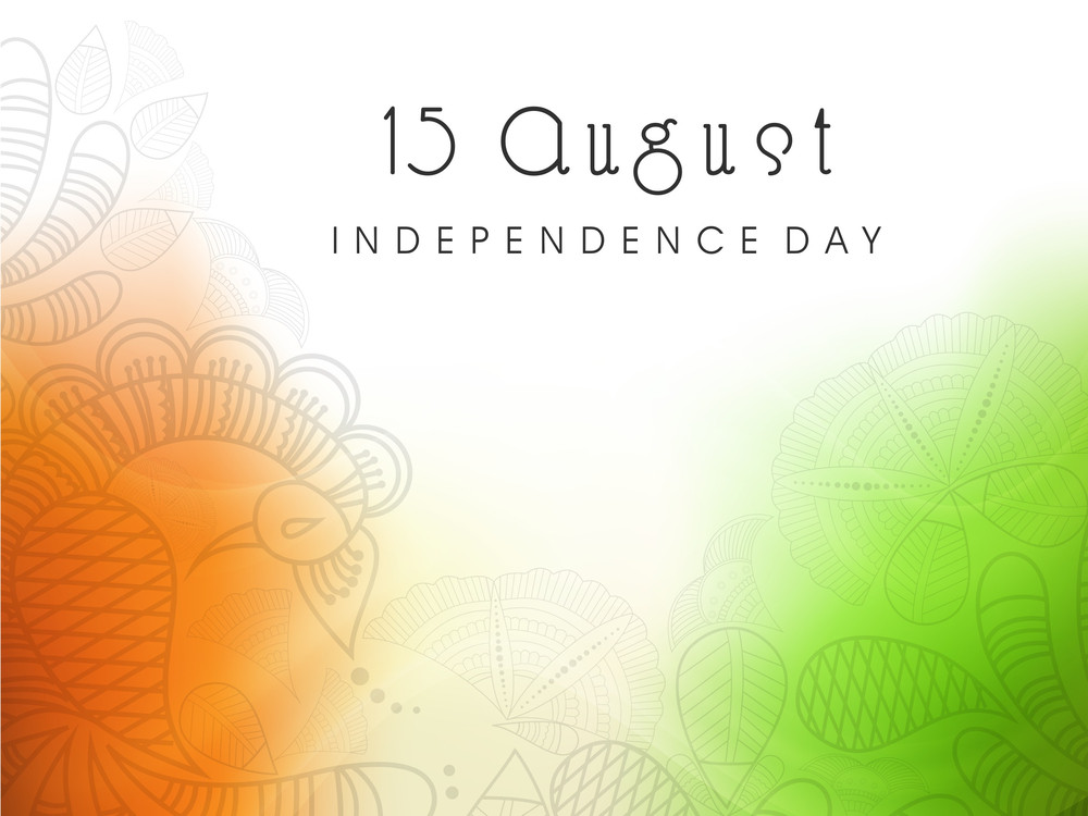 Beautiful Floral Background In National Flag Colors
