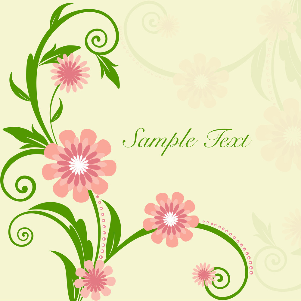 Beautiful Floral Background With Space For Your Message Royalty
