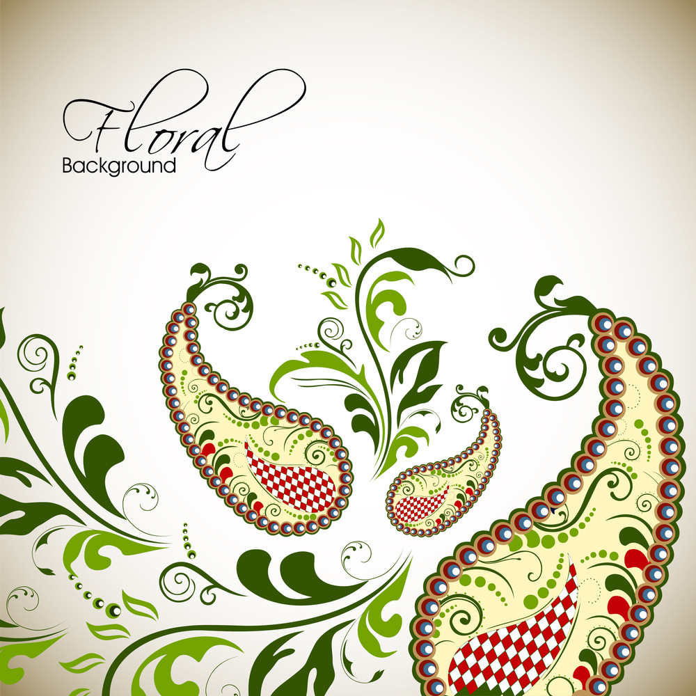 Beautiful Floral Background With Space For Your Message.