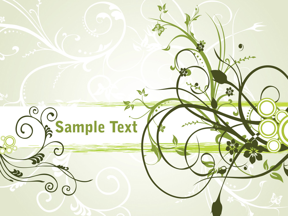 Beautiful Floral Border With Sample Text