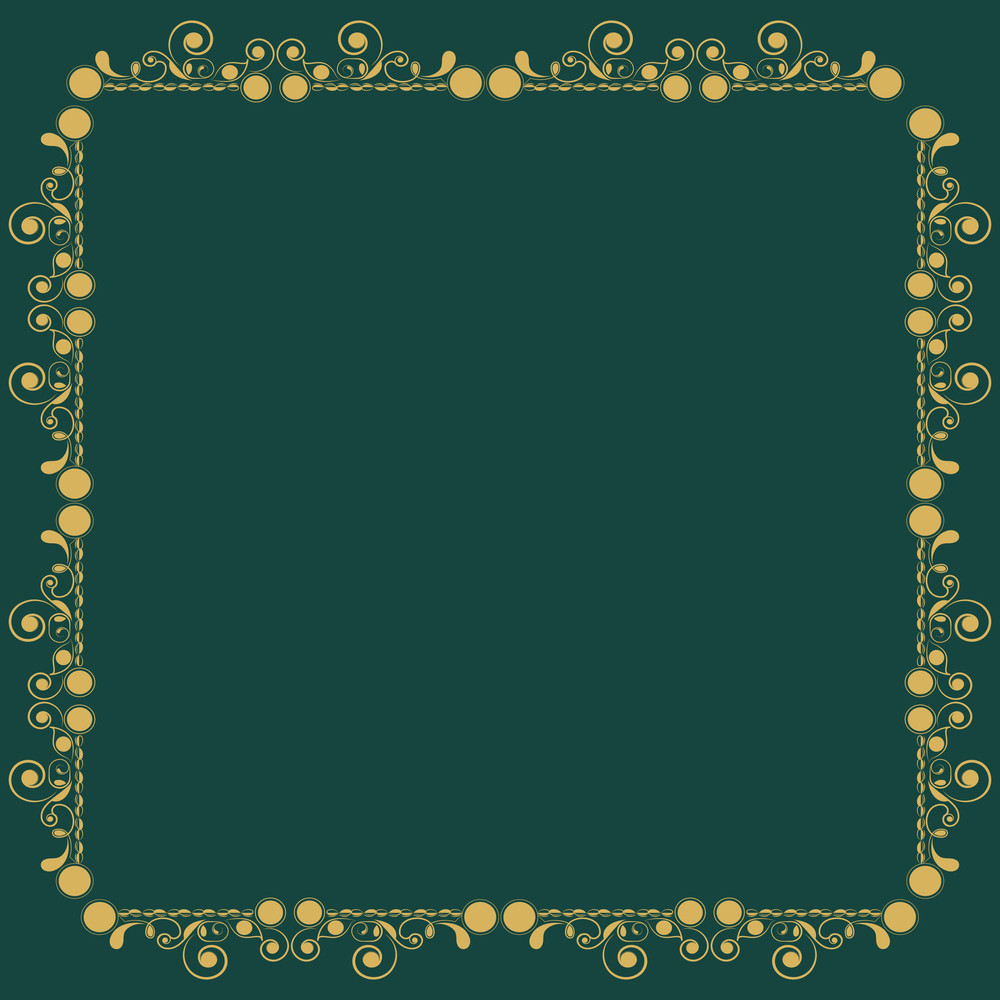 Beautiful Floral Decorated Golden Borders.