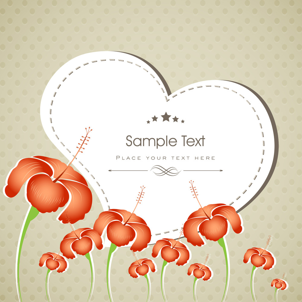 Beautiful Floral Decorated Greeting Card Or Background.