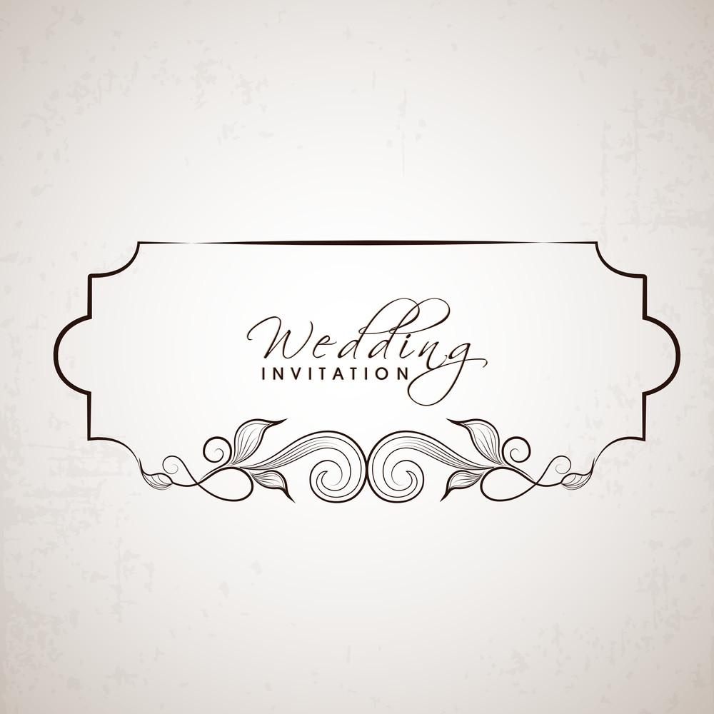 Schöne Blumen verzierte Einladungskarte für Hochzeit und andere Zeremonie