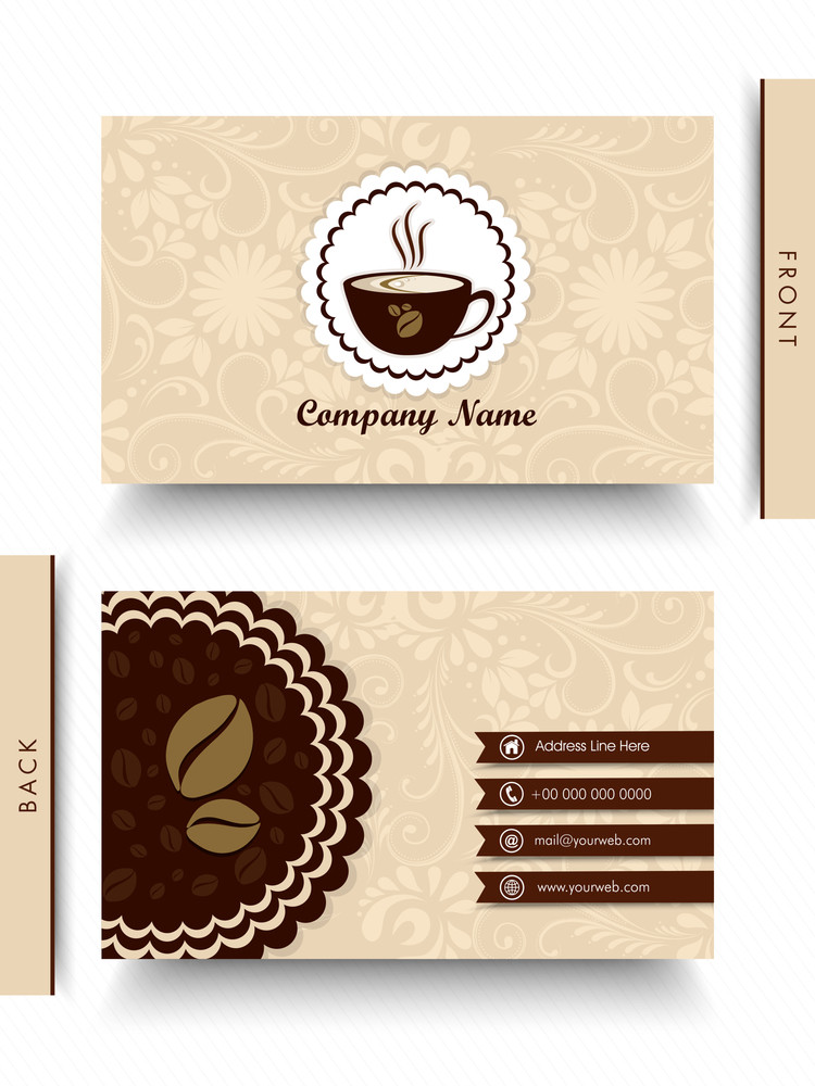 Beautiful floral design decorated business card for cafe or beautiful floral design decorated business card for cafe or restaurants colourmoves