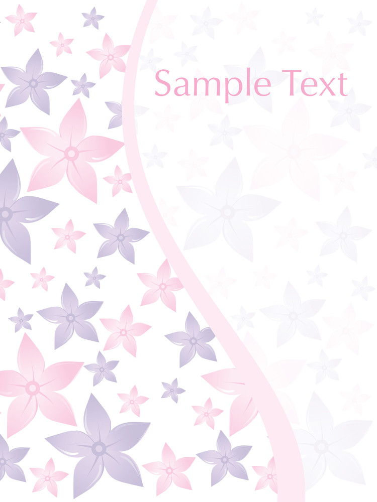 Beautiful Flower Pattern Card
