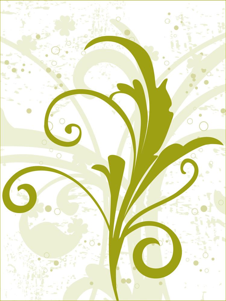 Beautiful Green Floral Pattern Illustration