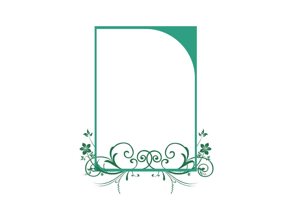 Beautiful Green Swirl Design Background