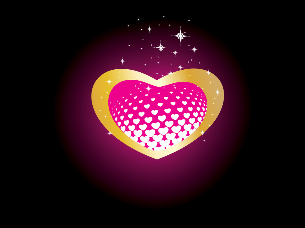 Beautiful Heart Isolated On Background