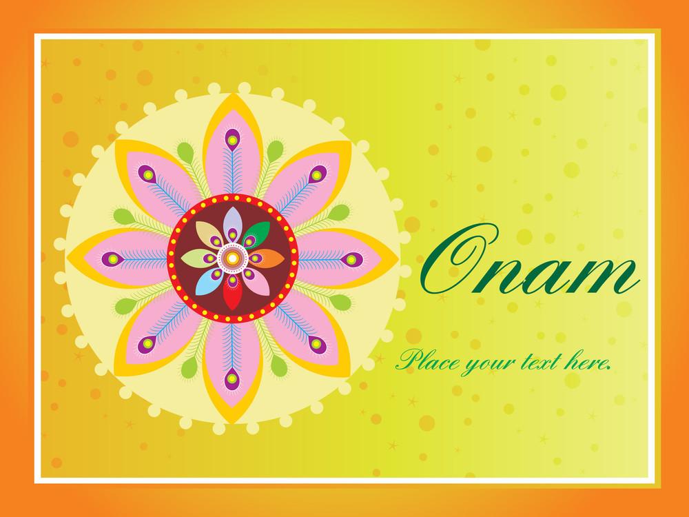 Beautiful Illustration For Happy Onam