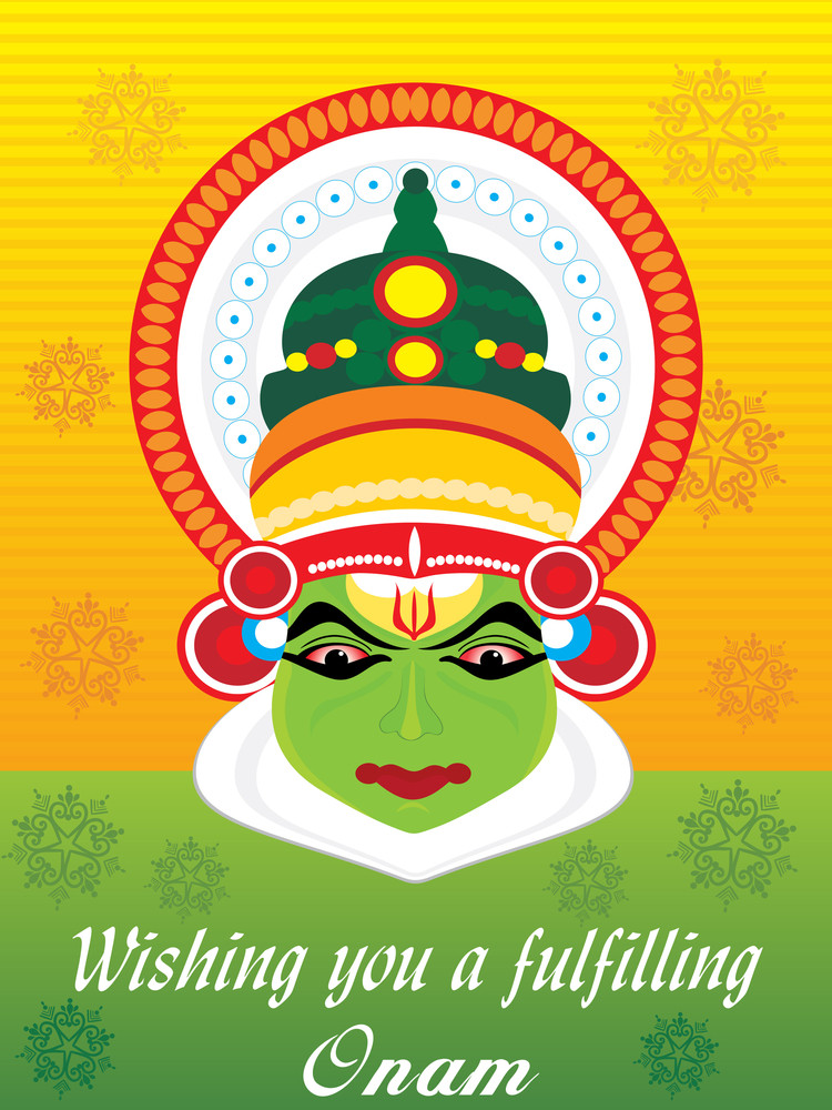 Beautiful Illustration For Happy Onam
