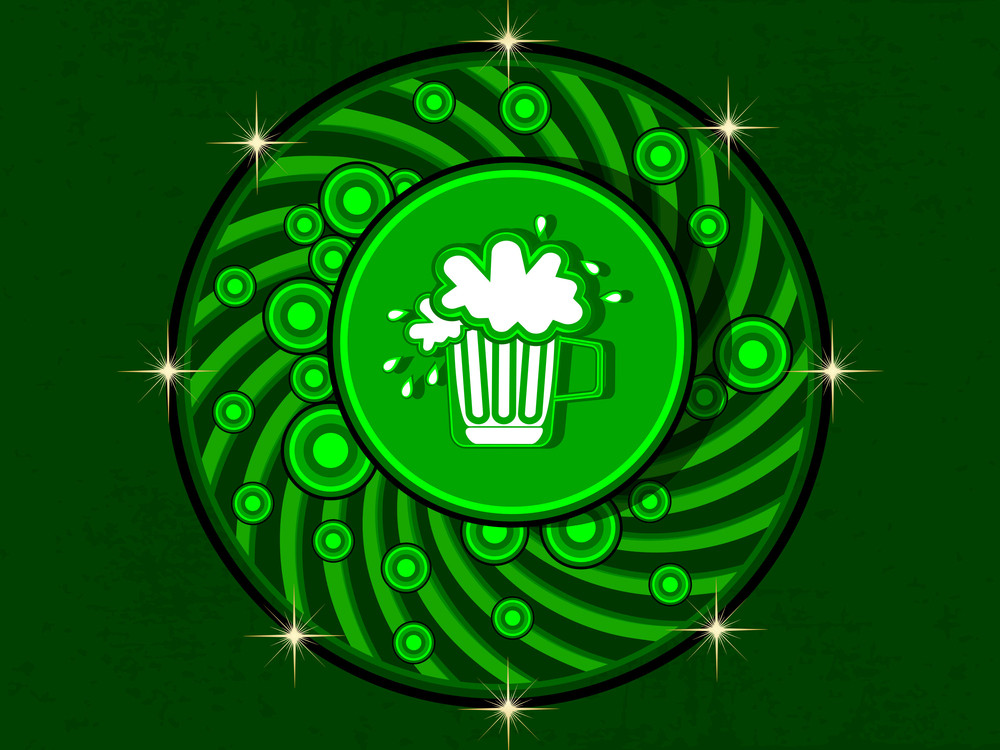 Beautiful Illustration With Beer Mug For St. Patrick' S Day And Any Other Occasion. Vector
