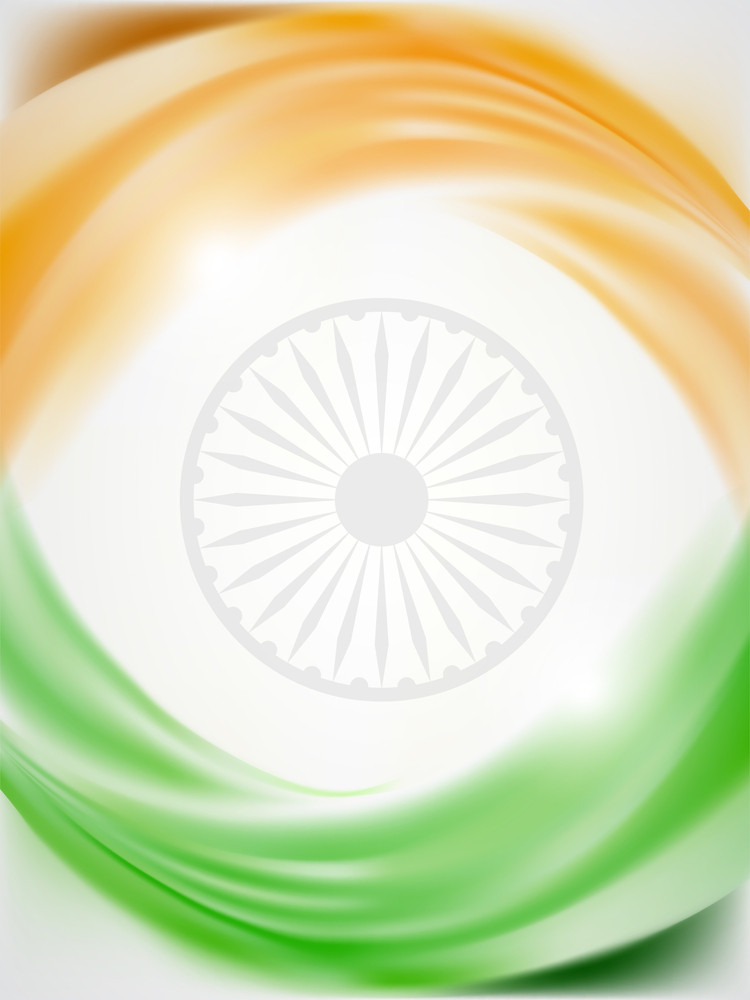 Beautiful Indian Flag Background With Space For Your Text. Vector Illustration Eps10.