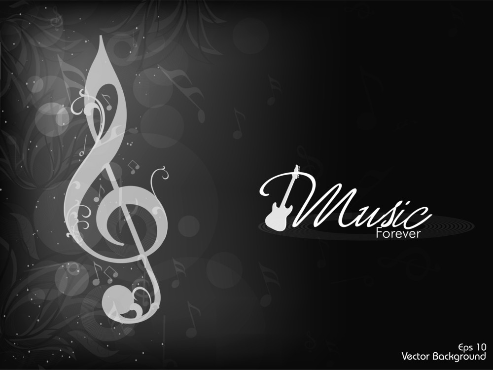 Beautiful Musical Abstract Background.