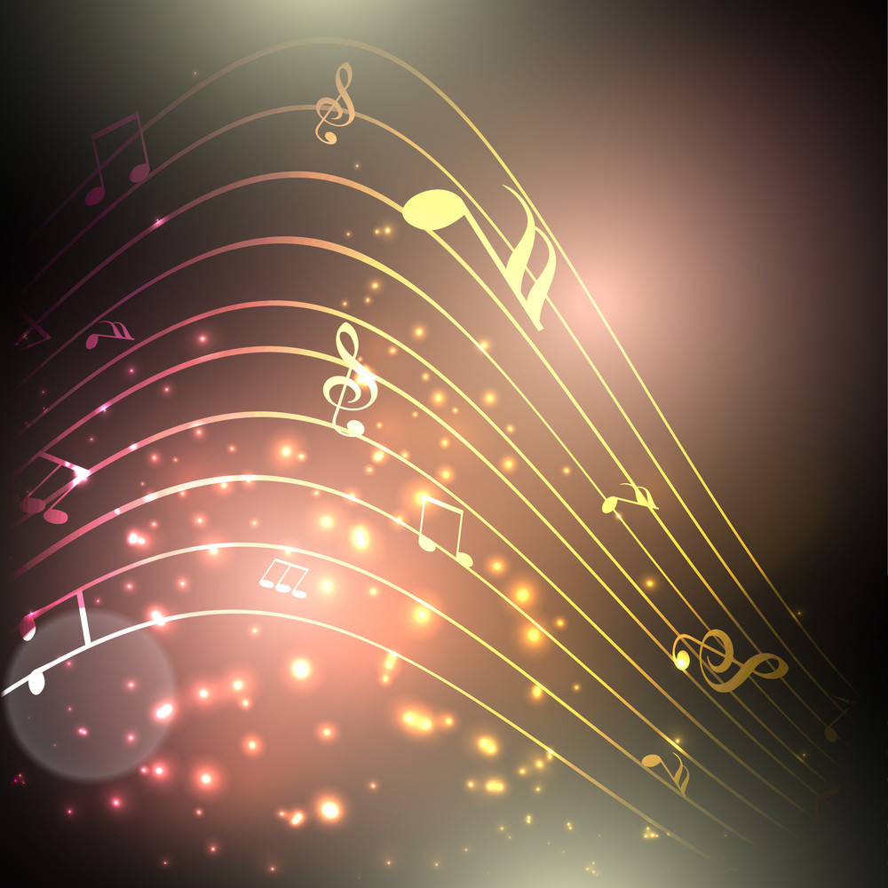Beautiful Musical Notes Background