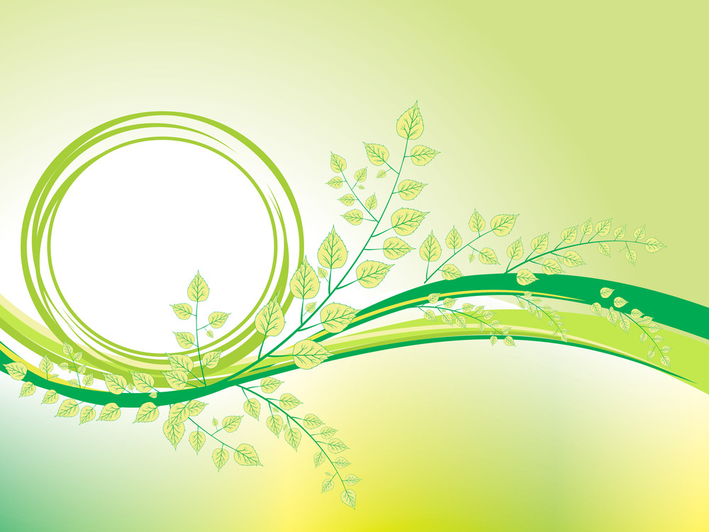 Beautiful Nature Concept Illustration