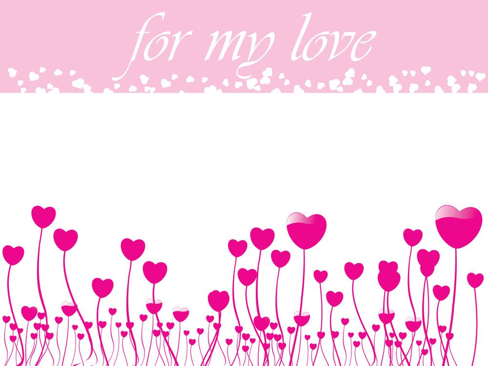 Beautiful Pattern Card For True Love