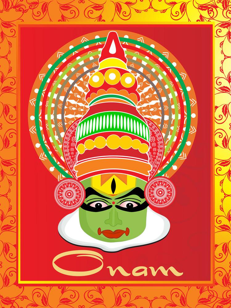 Beautiful Pattern Greeting Card For Onam