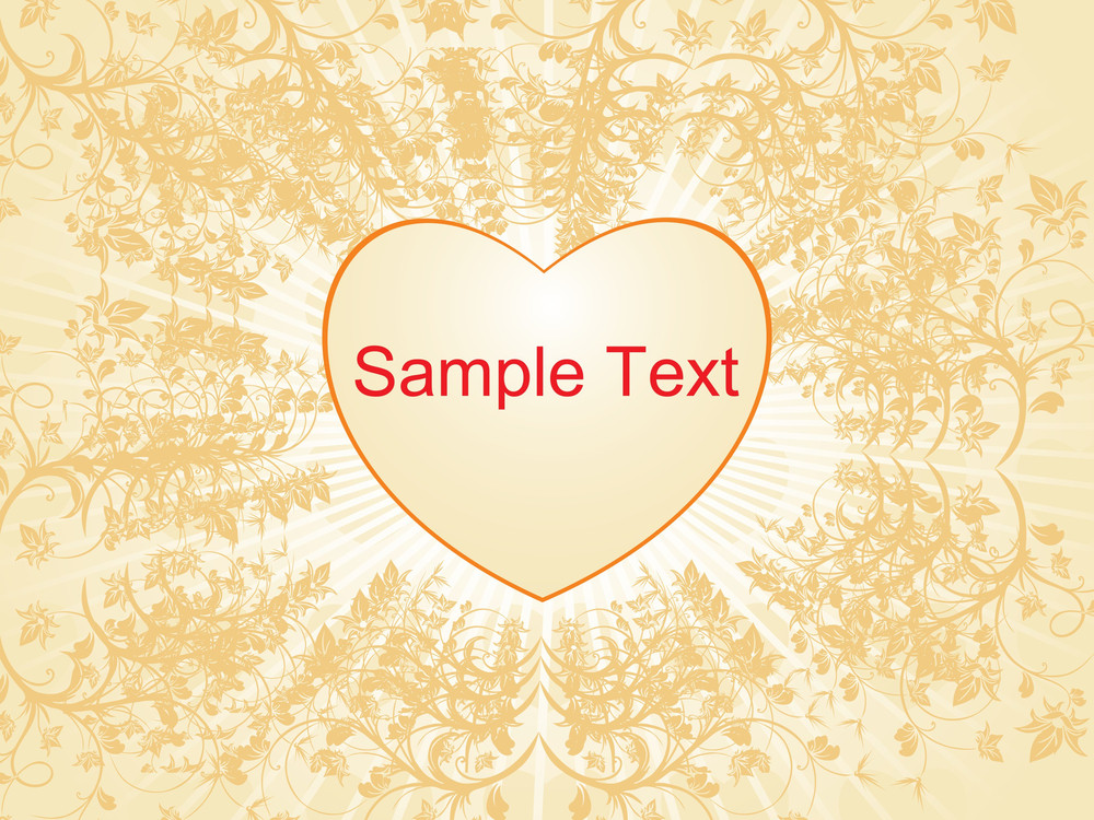 Beautiful Pattern With Love Text